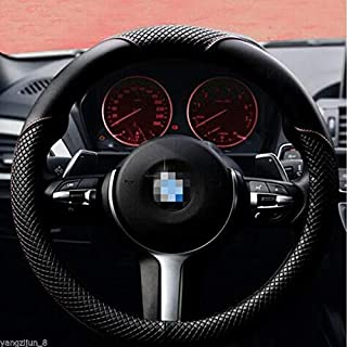 Mikrofaser Leder Universal Auto Lenkradabdeckung 38CM Auto Styling Sport Auto Schwarz