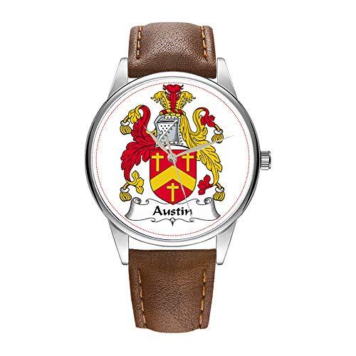 Reloj de hombre de cuarzo marrón Cortex para hombre, famoso reloj de pulsera de cuarzo, para negocios, regalo de empresa, despedida familia, etc.