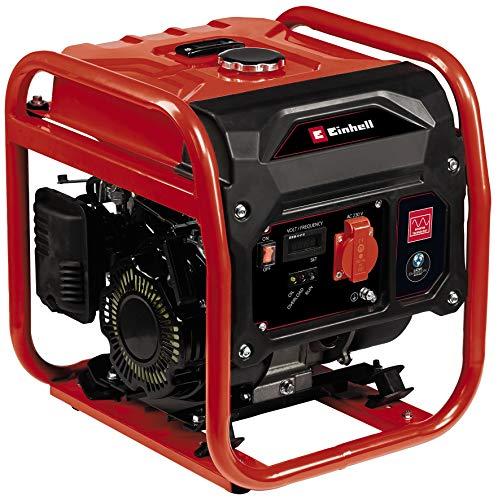 Einhell Stromerzeuger (Benzin) TC-IG 1100 (1000 W, 1.4 kW, Inverter-Technologie, 79 cm³, 6,5 L Benzin-Tank, 4-Takt-Antriebsmotor, 1x230 V-Steckdose, Überlastschalter, Tragerahmen)