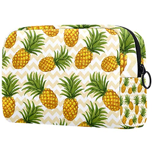Cosmetic Bags for Women, Makeup Bags Roomy Toiletry Pouch Travel Accessories Gifts - Hand Drawn Pineapple