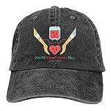 Día Mundial del Donante de Sangre 14 de Junio-1 Gorra de béisbol, Gorra de Camionero Ajustable Vintage con Gorra de papá para Mujeres y Hombres