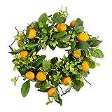 """DII Decorative Seasonal Wreath Spring/Summer, Front Door or Indoor Wall Décor, 22""""Diameter, Lemons"""