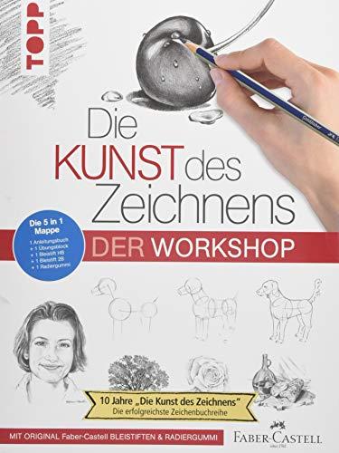 Die Kunst des Zeichnens - Der Workshop: 5 in 1 Mappe = 1 Anleitungsbuch + 1 Übungsblock + 1 Bleistift HB + 1 Bleistift 2B + 1 Radiergummi