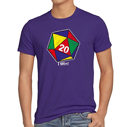 style3 Sheldon W20 Color Rubik Camiseta para Hombre T-Shirt, Talla:L;Color:Morado
