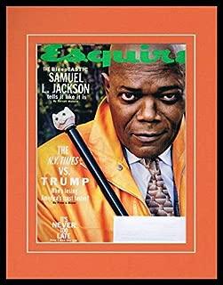 Samuel L Jackson Framed 11x14 ORIGINAL 2019 Esquire Magazine Cover