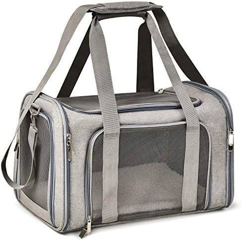 Henkelion Cat Carriers Dog Carrier Pet Carrier For Small / Medium Cats Dogs Puppies (Up To 15lbs), TSA Airline Approv...
