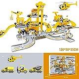 LHTE Parking Lot pour Enfants Puzzle Rail Car, Jouets pour Enfants, génie Alloy stationnement Pelle Aircraft...