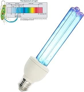 UV germicidal Light Bulb 15W UVC Compact lamp E26/E27 Base Ozone Free UV Light