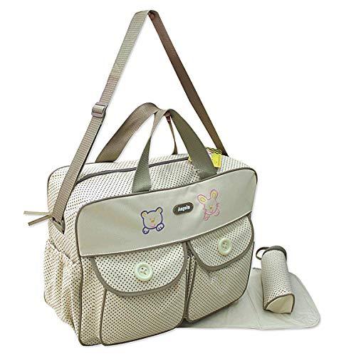 XXL 3 tlg Baby Farbe beige Wickeltasche Pflegetasche Windeltasche Babytasche Reise Farbauswahl