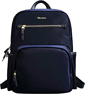 Wolfrealm Business Backpack Laptop Backpack Purse for Women Fashion Ladies School Bag fit 14.1 inches Lightweight Waterproof,Blue