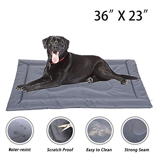 """Cheerhunting Dog Crate Mat Crate Pad 36""""/42"""", Water Resistant, Machine Washable, Large Size Dog Mats for Sleeping, Anti Slip Dog Bed for Crate Beds"""