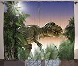 LKCD Cortinas Aislantes Termicas Ventana Jurassic Jungle Tree Dinosaur Forest...