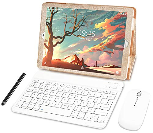 YESTEL Tablet 10 Pollici con wifi offerte Android 8.1 Tablet PC con 3GB RAM & 32GB ROM e LTE Dual SIM Call, 5.0 MP + 8.0 MP HD Camera e 8000mAH (Sblocco Facciale,Supporta Netflix) -Dorato