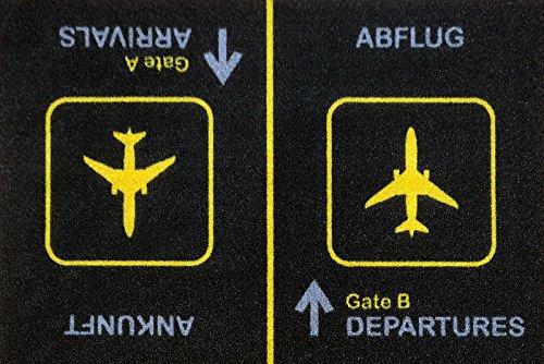 Fußmatte Türvorleger Ankunft Abflug Arrival Departures 25060 Gr. ca. 60 x 40 cm