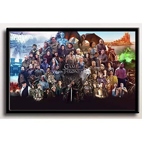 LZQZJD® Gioco di Puzzle Educativo per Adulti 3000 Pezzi di Puzzle, Game of Thrones in Legno per Bambini Personalizzato Classico Hobby Giocattolo Arte Città Film D'Animazione