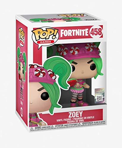 Funko Pop! Fortnite 458 Zoey Vinyl Figure, Multicolor, Estándar 3