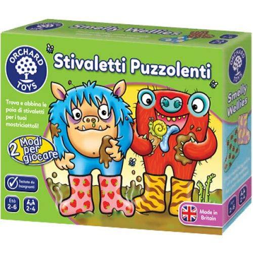 Orchard Toys - Botines puzzolenti, juego de mesa educativo (versión italiana).