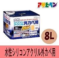 [A] アサヒペン 水性シリコンアクリル外カベ用 [8L]