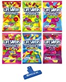 Includes one 7 oz bag of each Flavor - 6 bags in total Flavors Include: Original 5 Flavors, Sours, Neons, Exotics, Collisions, and Wild Berries Includes Spice of Life Bag Clip