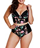 LALAGEN Women's Strappy Hollow Out Floral Swimwear...
