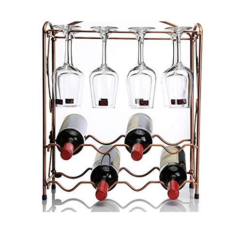 Estante para botellas de vino copas vino encimera Botellero, creativo copa de vino al revés Decoración vino Estante, for encimeras de cocina, despensa, Nevera - Independientes, apilable Solo PortaBote