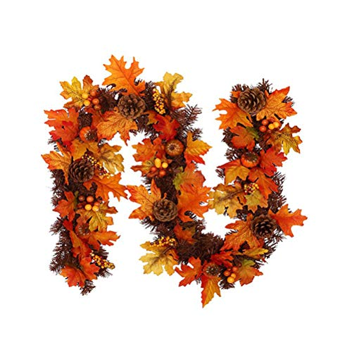 BYJIN Halloween Maple Leaf, 2m Maple Leaves Fairy Lights Autumn Garland, Autumn Pumpkin Leaves, for Weddings, Parties, Thanksgiving, Home, Christmas Lights