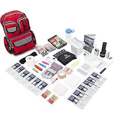 Emergency Zone 4 Person Family Prep 72 Hour Survival Kit/Go-Bag | Perfect Way to Prepare Your Family | Be Ready for Disasters Like Hurricanes, Earthquake, Wildfire, Floods | Now Includes Bonus Item! from Emergency Zone