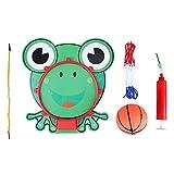 FTVOGUE Aro de Baloncesto Ajustable para Colgar en el Interior 5 en 1 Animal de Dibujos Animados Colgante de Baloncesto Set Hoop Net String Pump Kids Toy(02)