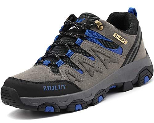 Lvptsh Chaussures de Randonnée pour Hommes Bottes de Randonnée Bottes de Trekking Antidérapantes Bottes d'escalade Chaussures de Marche Gris 43