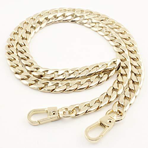 Golden, 68cm bolso de la cadena de metal bolsa de la cadena de la cadena de la correa con ganchos de níquel, dorado, anti bronce AT91