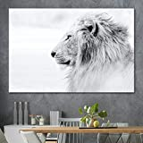 SIGNLEADER Lion Wall Art for Home Office Lion Canvas Wall Art for Living Room Bedroom - 12x18 inches