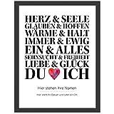 Personalisiertes Poster, DU und ICH, Größe 40x30 cm, BILD