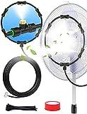 Lekit Outdoor Misting Fan Kit for Cooling, Outdoor Misters for Outside Patio - Water Misters for Cooling Porch Garden Yard Trampoline Backyard (19FT/5.8M)