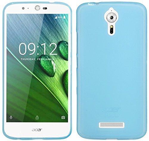 ENERGMiX Silikon Hülle kompatibel mit Acer Liquid Zest Plus Z628 Tasche Hülle Zubehör Gummi Bumper Schale Schutzhülle Zubehör in Blau