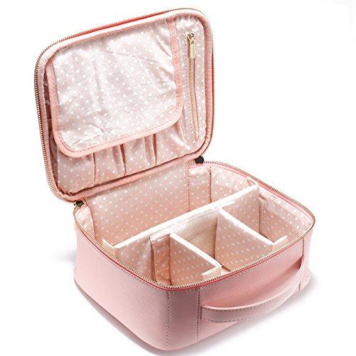 Boîte de rangement cosmétique sac cosmétique cosmétiques plein air voyage mode bain organisateur de maquillage maquillage stockage de brosse de maquillage cadeau de petite amie surprise garçons pour les filles porte-rouge à lèvres sac portable imperméable femme-A