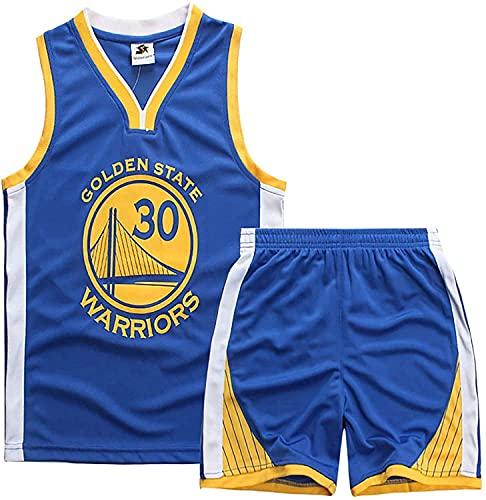 Camiseta De Baloncesto Camiseta De La Lebron James # 23 Lakers Camiseta Y Pantalones Cortos De Baloncesto Traje De Jersey para Niños, Traje Deportivo De Malla Transpirable,Azul,L:140~150cm
