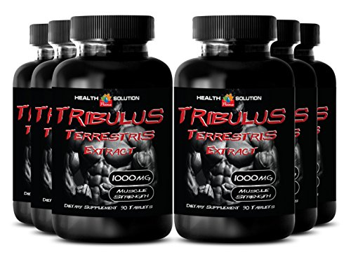 Tribulus Bulgarian - Tribulus Terrestris Extract 1000mg Muscle Strength - Sexual Desire Pills (6 Bottles 540 Tablets)