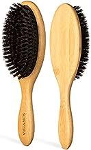 Boar Bristle Hair Brush for Men Natural Hair Brushes for Women Pure Boar Bristle Brush Mens Hair Brush Set Boars Hair Brush Oval Wooden Bore Bamboo Hairbrush Adds Shine Fine Soft Thin Hair