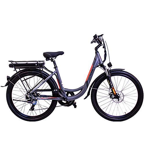 LANKELEISI ES300 26in LankCruiser Step-Thru Electric Bike, Pedal Assist, Throttle, 500W Brushless Motor, 48V 10.4AH Battery…