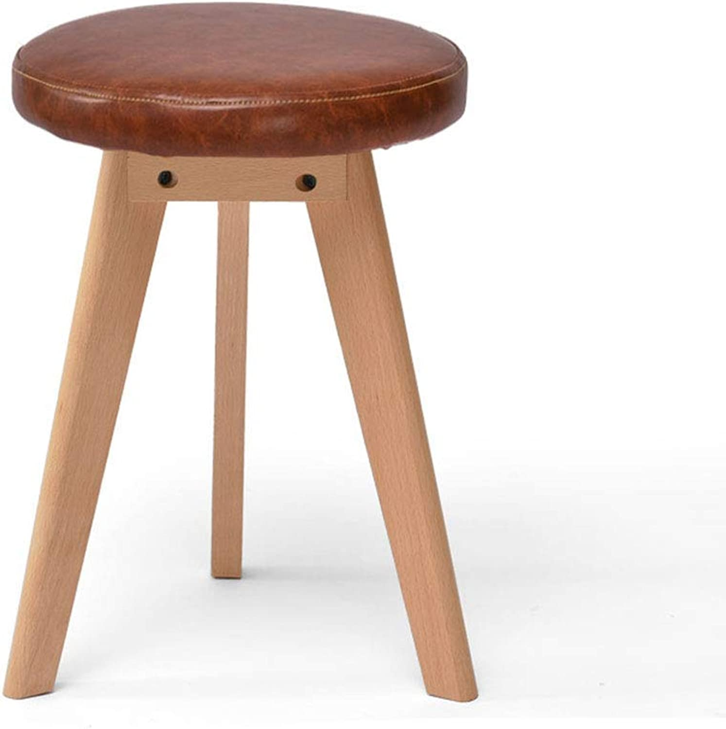 Fashion Creative Solid Wood Stool Home Fabric Dining Stool Small Bench Makeup Stool Simple Stool Dressing Stool (color   Brown)