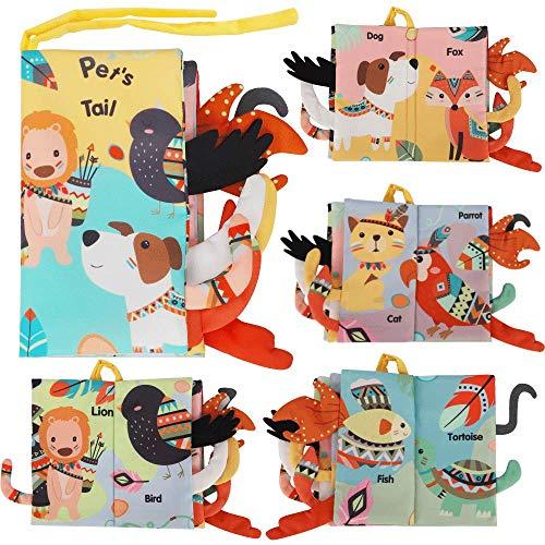 BeebeeRun Libros de Tela para Bebé Animales Activity Libros Blandos,Aprendizaje y Educativo Juguete para Bebé Recién Nacido Niños(1 Pieza)