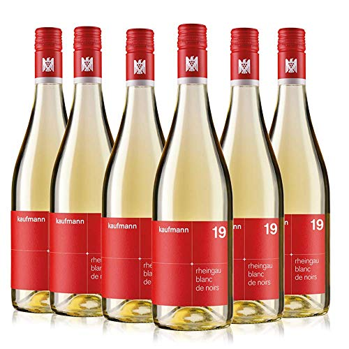 kaufmann Blanc de Noirs Wein (6 x 0.75 l) trocken 2019 - Weißwein Deutschland VDP. Gutswein bio-dynamisch