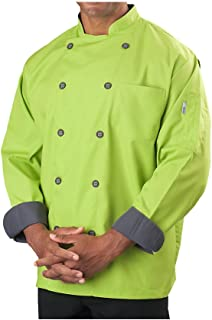 lime green chef coat