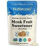 NuNaturals Monkfruit Sweetener, 1:1 White Sugar Substitute, Non-GMO, Keto, Zero Calorie, Zero Glycemic, Baking, Extract, Sugar Replacement (3 lbs)