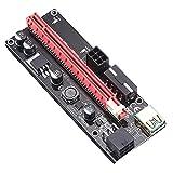 Didad 60Cm Ver009S Pci-E Tarjeta Vertical Pcie 1X a 16X USB 3.0 Cable de Datos Bitcoin Minería