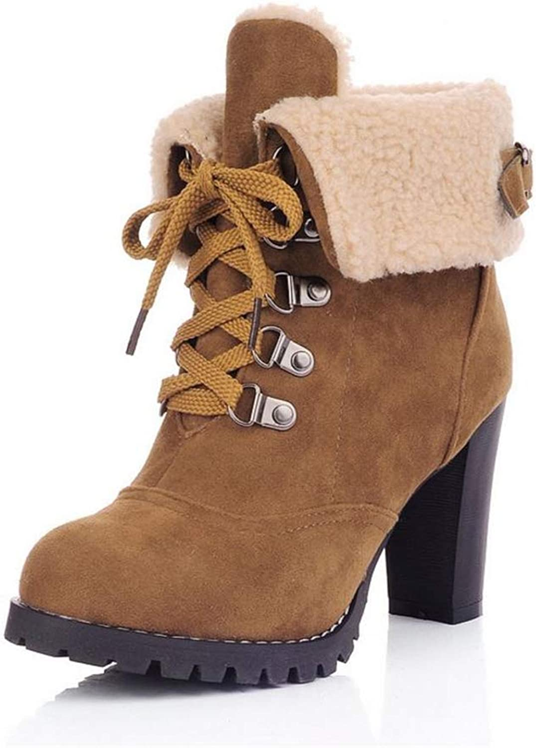 Super explosion Womens Winter Snow Boots Buckle lace up Soft Cotton Warm Short Ankle Booties