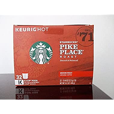 Starbucks Pike Place Roast, K-Cup for Keurig Brewers (32 Count)