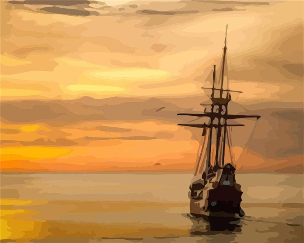 DIY Paint By Numbers Sunset On Handpainted Drawing Limited time for 40% OFF Cheap Sale free shipping Painti Canvas