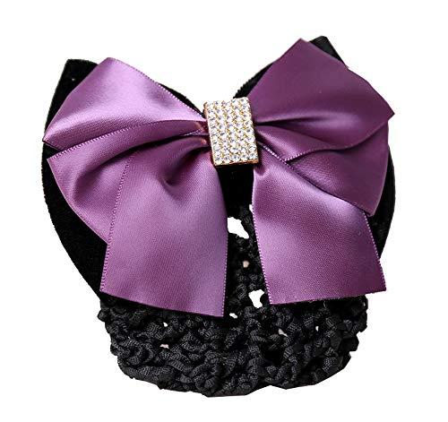 Pince à cheveux couverture Bowknot Bun Snood Hair Net Accessoire cheveux pour femmes, K3