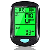 CYCLESPEED Bicycle Odometer Speedometer Wireless - Bike Computer Waterproof and Bicycle Mile Tracker with Automatic Wake-up LCD Backlight Display Multi-Function ,